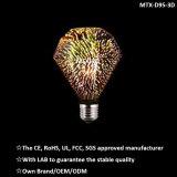 Bulbo colorido dos fogos-de-artifício do diodo emissor de luz da lâmpada decorativa extravagante nova 2W ST64