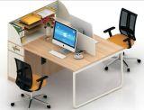 (HX-NCD386) Estação de trabalho de vidro de madeira dos assentos do MDF 2 da divisória do escritório