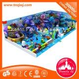 precio de fábrica a los niños Playground suave del océano con un largo juego de laberinto en el interior de la competencia de diapositivas