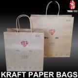 Diseño plegable Bolsa de papel con el precio de fábrica de compras