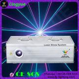 лазер одушевленност полного цвета 3W DMX DJ RGB