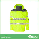 Высокая безопасность видимых куртка с 3м светоотражающей лентой Workwear