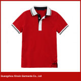 Do tipo curto da luva da forma fabricante feito sob encomenda das camisas do logotipo em Guangzhou (P61)