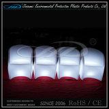 Silla plástica de la iluminación del LED en el moldeado de la rotación