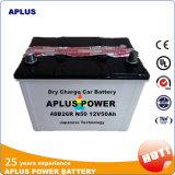 Высушите батареи автомобиля хранения 48b26r N50 12V 50ah обязанности свинцовокислотные перезаряжаемые