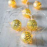A corda festiva do diodo emissor de luz do Natal a pilhas do medidor ilumina o ideal para o casamento