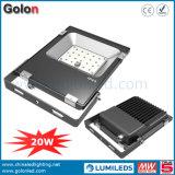La alta calidad 110lm/W 20W IP65 del precio bajo impermeabiliza la luz al aire libre del punto del LED