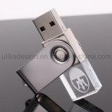 Giratoria de cristal USB Flash Drive con su logotipo 3D (UL-C010)