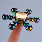 Fileur de doigt de jouet de main de triangle de fileur de personne remuante d'alliage d'arc-en-ciel