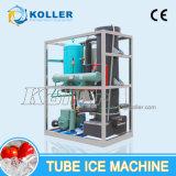 El tubo de ice maker con sistema de embalaje de hielo comestible 2000kg/día