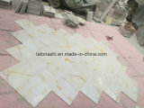 Естественная Polished белая плитка мрамора Onyx для кухни, украшений гостиницы