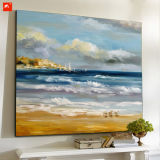 Pintura al óleo abstracta de Dowmtown del arte de la pared de la playa