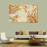 La peinture gravée en relief de fleur de plomb pour la décoration à la maison