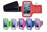 Armband спорта водоустойчивого случая PU кожаный идущий для Samsung для полосы рукоятки телефона спорта iPhone 6 идущей с эластиком