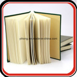 고대 책에 의하여 꿰매어지는 작풍 리넨 덮개 노트북 전표 책