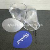 Frasco de plástico etiqueta junta de calor