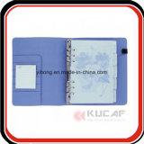 Planificateur de cahier de cuir de cahier de boucles de l'impression 6 de CYMK