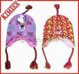 Acrílico unissexo Tricotar Borboleta Jacquard Bomber Hat