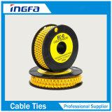 De elektro Gele Teller van de Kabel van pvc voor het Merken van Ec-J