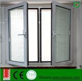 Vidrio de doble vidrio Perfil de aluminio Ventana de ventanilla de vidrio incorporado