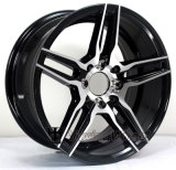 15インチのハイパー黒い縁の合金の車輪