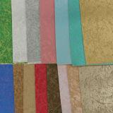 Cuir lumineux estampé d'unité centrale de Rexine de couleur de Golded pour le sac à main de chaussure