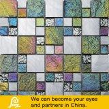 De kleurrijke Spaanders van het Metaal van de Steen Mengeling Geborstelde met het Mozaïek van het Glas