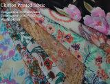 China Buena calidad de la tela de gasa con la impresión
