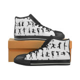 Dropshippingの工場標準的なキャンバスのスニーカーの男女兼用の昇華印刷の習慣は靴を作る