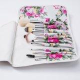Cepillo cosmético personalizado con el conjunto de cepillo del maquillaje de 12 pedazos