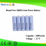 Полная батарея Li-иона 18650 высокого качества 100% первоначально 2500mAh 3.7V производственной мощности перезаряжаемые