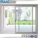 Алюминиевое Windows и раздвижная дверь двойной застеклять дверей изогнутая стеклянная
