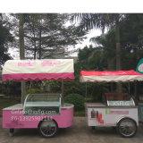 イタリアのアイスキャンデーのアイスクリームのカートかGelatoのカート