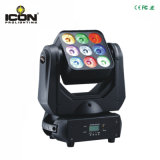 9 * 10W CREE RGBW LED Wash Matrice Moving Head pour Disco