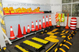 Usage de la voie légère à la barricade à trafic multicolore