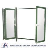 As2208 Venster van de Vouwen van Bi van het Aluminium van het Certificaat het Grootte Aangepaste