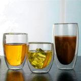 80-600ml isolée à double paroi en verre de bière en verre de thé de café tasse