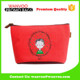 Sacchetto cosmetico stampato della tela di canapa della lavata del sacchetto di bellezza di corsa dell'articolo da toeletta