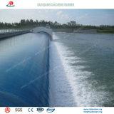 Tipo aleta barragem inflável de borracha instalado através do Rio