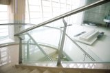 De roestvrije Montage van de Leuning voor de Steun van Cliping van het Glas