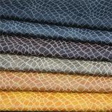 Alligator Pattern Environmental Matériau PU Cuir pour meuble Canapé