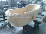 Vasca da bagno di marmo per l'imbarcazione della stanza da bagno