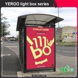 Scrolling плаката улицы укрытие шины Lightbox бортового напольного стоящее рекламируя Mupi