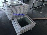 Fenêtre battante en aluminium revêtue de poudre personnalisée avec double vitrage