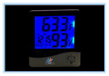 HTC-8AデジタルのLCDのバックライト及びクロックが付いている明るい電子湿度計の温度計の温度の湿気のテスター