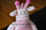 ぬいぐるみのピンクの白い縞2017の柔らかい人形