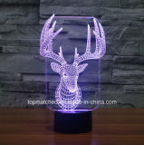 LED de colores Touch Luces visuales, luz decorativa de la noche del LED 3D para regalo de cumpleaños