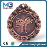 Médaille promotionnelle de blanc en métal de ventes chaudes