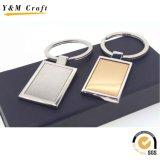 Chaîne principale de logo de cadeaux d'impression en métal fait sur commande bon marché de blanc