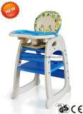 유럽 기준 (CA-HC550)를 가진 1개의 아기 어린이 식사용 의자에 대하여 2017 새 모델 플라스틱 3
